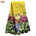 Cuentas de oro de encaje de nigeria tela de encaje del cordón bordado de encaje guipur africano para el banquete de boda