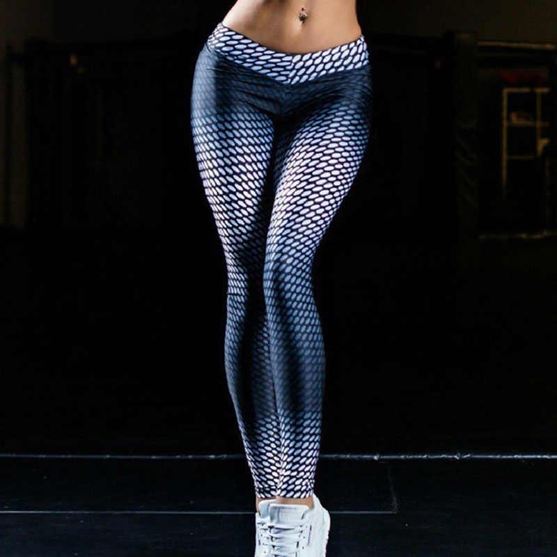 HOT kobiety antycellulitowy kompresji legginsy Gym Running joga spodnie sportowe HV99