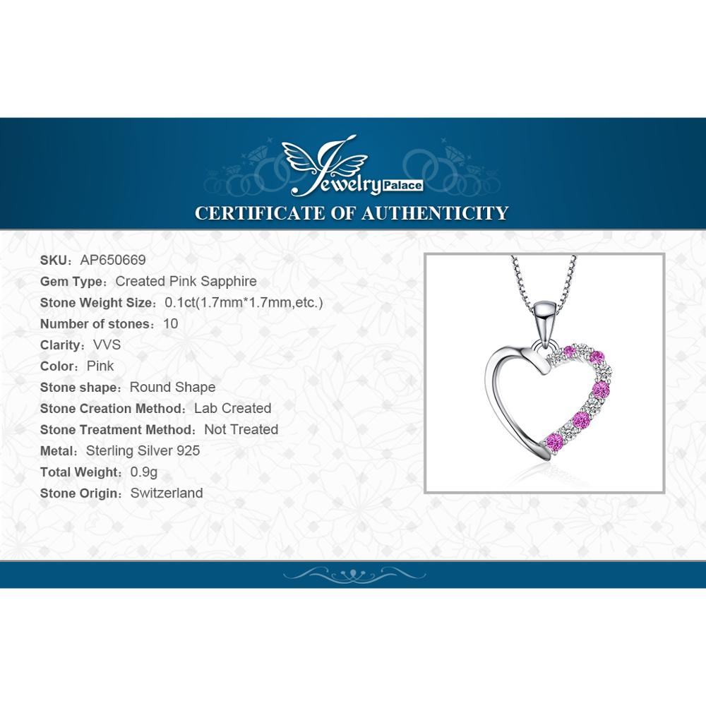Pink Sapphire Heart Necklace