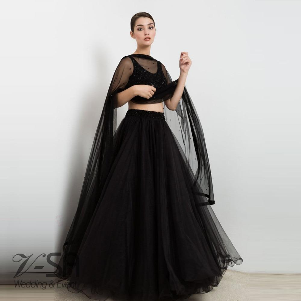 238607f62a7c Black 2 Piece Prom Dresses - PostParc
