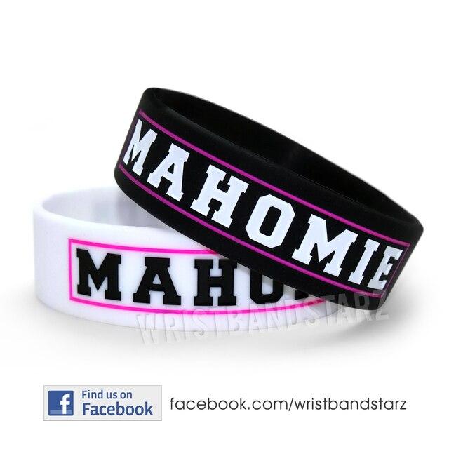 """Mahomie bracelet, Austin Mahone bracelet, Silicon bracelet, 3/4 """" large bande, 50 pcs/lote, Livraison gratuite"""
