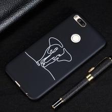 For Xiaomi 5X 6X 5S PLUS 8 SE Phone Cases Simple Stick Figure Soft TPU Case Capa Coque Shell