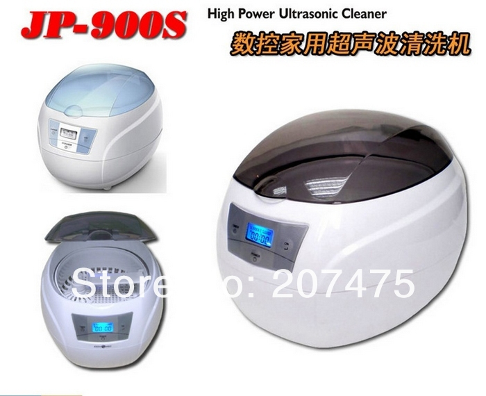 Free shipping JP-900s 750ml  Mini Glasses Watch Jewelry CD Digital Ultrasonic Cleaner Bath