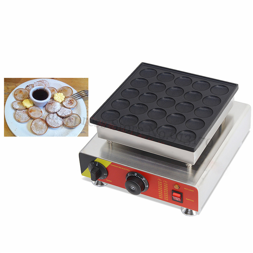 25 Holes Classic Poffertjes Machine Pancake Puffs Grill Baker Maker Dutch Style 110V 220V for Dining Room Coffee Shop Restaurant