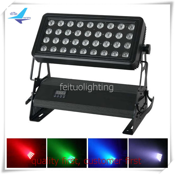 T- fly case packed 36x10w RGBW 4 in 1 High power DMX outdoor wall mounted led light wall washer light waterproof uplight