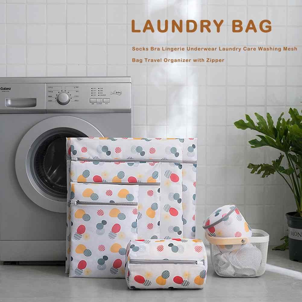 Mesh Laundry Bag Clothes Underwear Organizer Anti-hook Silk Wash Bag Mesh Bra Zipper Organizer Household Outdoor Cleaning Tools