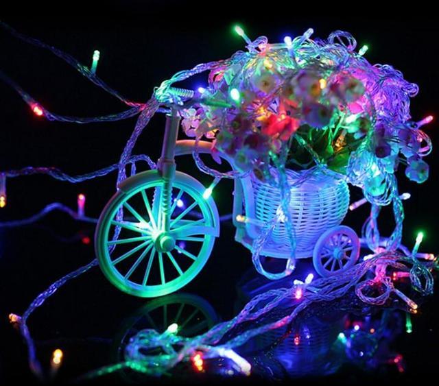 m leds v cadena de luz colorida impermeable holiday iluminacin led navidad