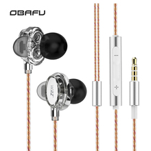 WRZ X7 Double Moving Coil Unit HIFI Music DIY Movement In-Ear Heavy Bass Earphone Sport With Mic Headset For Iphone For Xiaomi