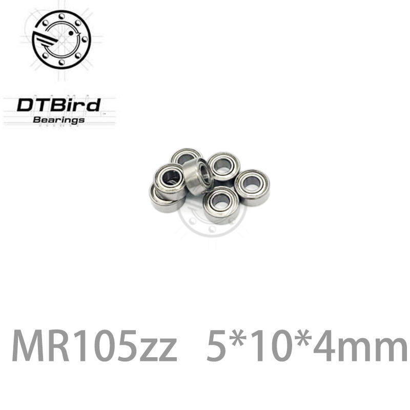 20pcs/Lot MR105ZZ ABEC-3 MR105 ZZ 5x10x4mm Thin Wall Deep Groove Ball Bearing Mini Ball Bearing Miniature Bearing <font><b>5*10*4</b></font> mm image