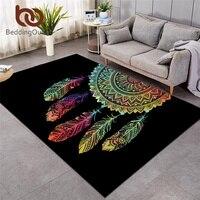 Beddingoutlet dreamcatcher grande tapete para o quarto boêmio mandala tapete antiderrapante colorido casa área tapis dropship|Tapete|Casa e Jardim -