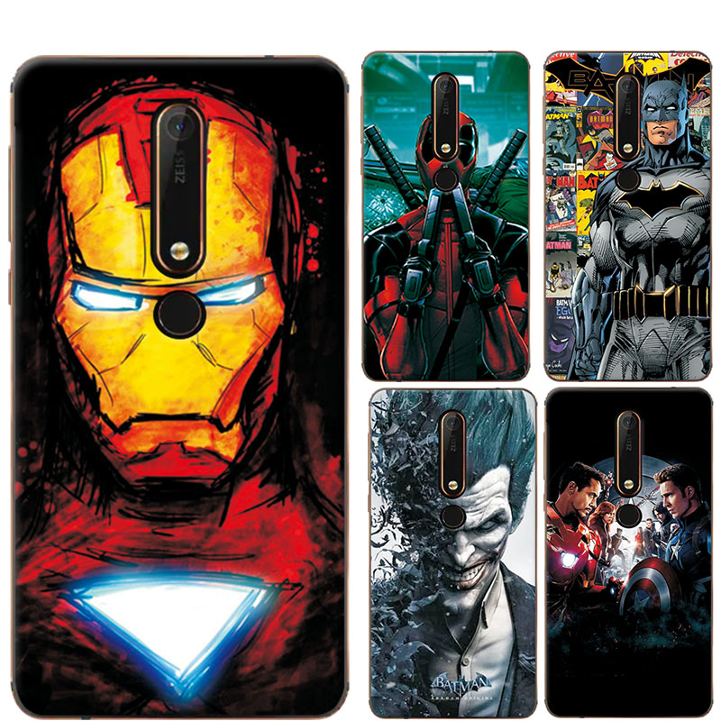 Charming Painted Case Cover For Nokia 6 2018 The Avengers Silicone Phone Case For Nokia 6.1 Fundas For Nokia 6 2018 / Nokia 6.1
