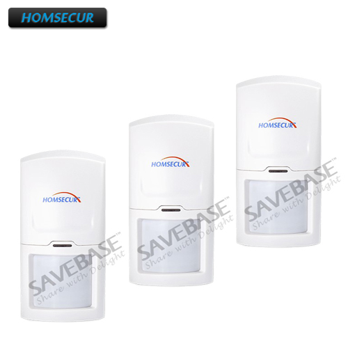 HOMSECUR 3PCS Wireless 433MHz PIR Motion Sensor For Home font b Alarm b font System A1