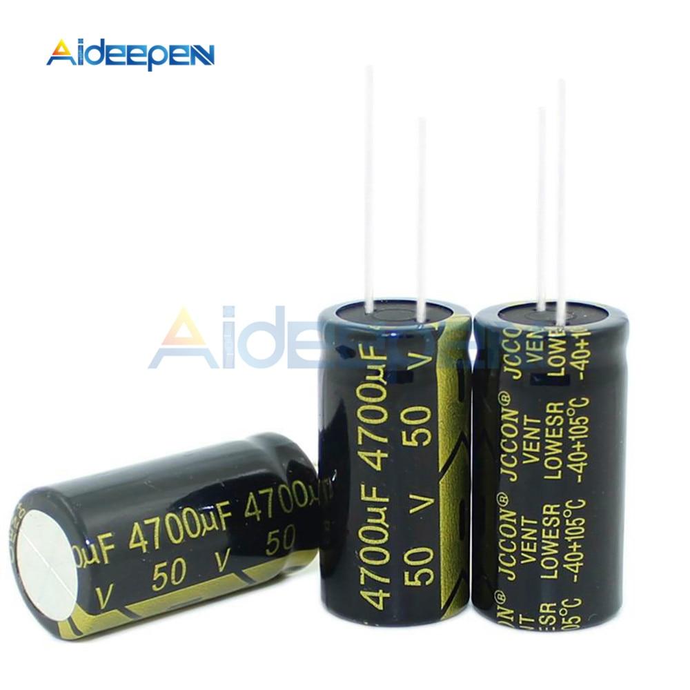 New 2PCS-20PCS 50V 4700uF 4700uF 50V Electrolytic Capacitors Volume 18X35MM High Frequency Low ESR 18*35mm