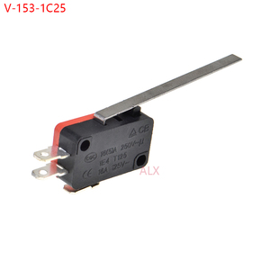 5PCS V-153-1C25 push button tact switch Momentary Micro Limit switches Microswitch Travel switch Long Straight Hinge Lever Type