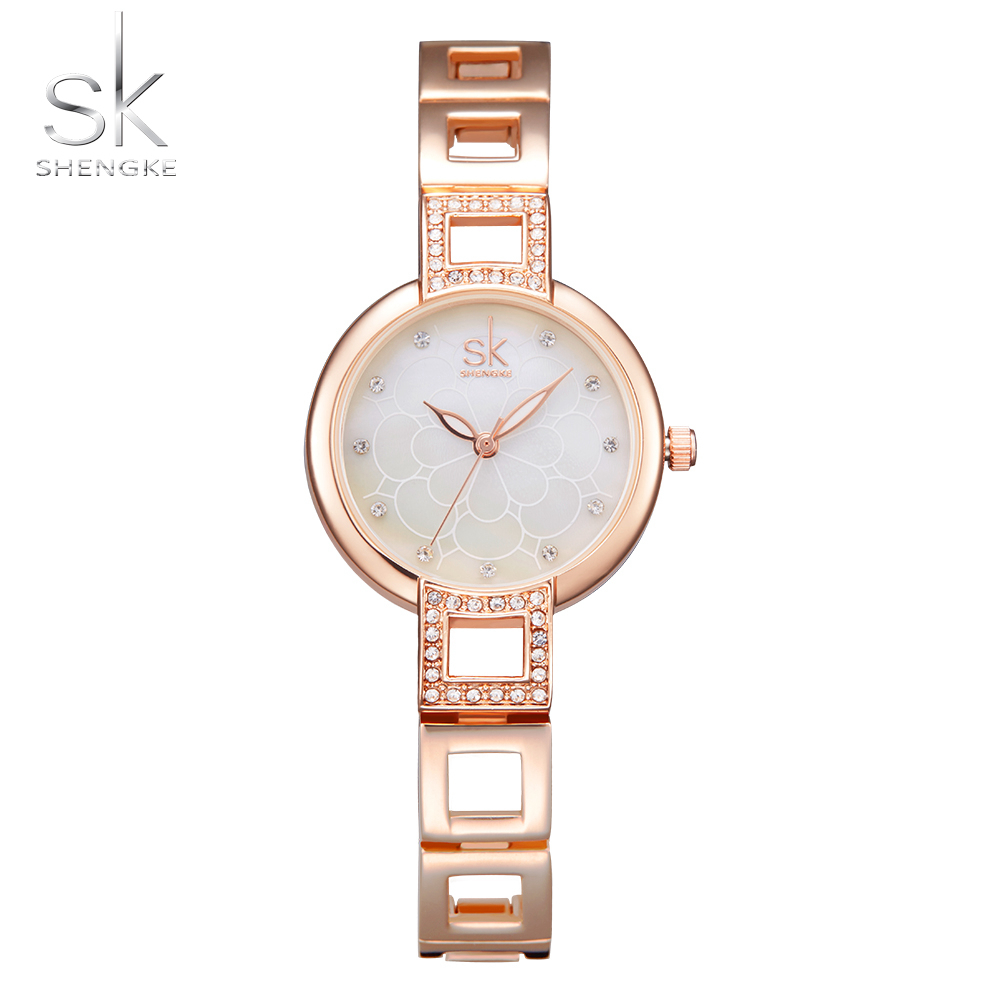 Shengke Women Watches Fashion Bracelet Wrist Watches Top Luxury Brand Girl Watch Formal Dress Clock For Female Montre Femme 2017 fashion women watches women crystal stainless steel analog quartz wrist watch bracelet luxury brand female montre femme hotting
