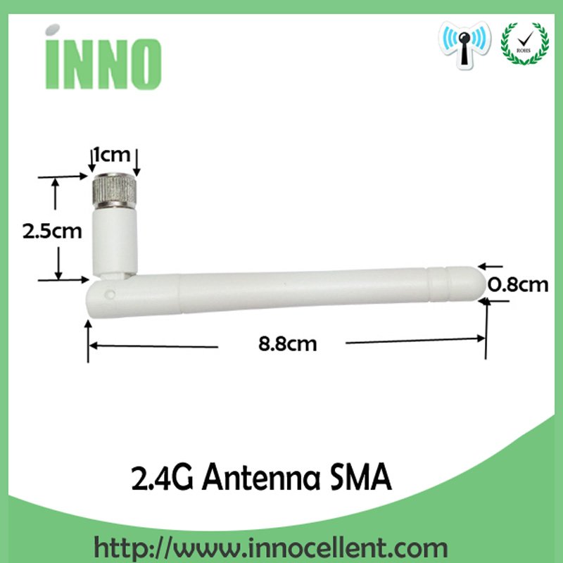 5pcs/lot 2.4GHz 3dBi Omni WIFI Antenna with SMA male connector + IPX to RP-SMA Jack Male Pin Extension Cord Pigtail Cable