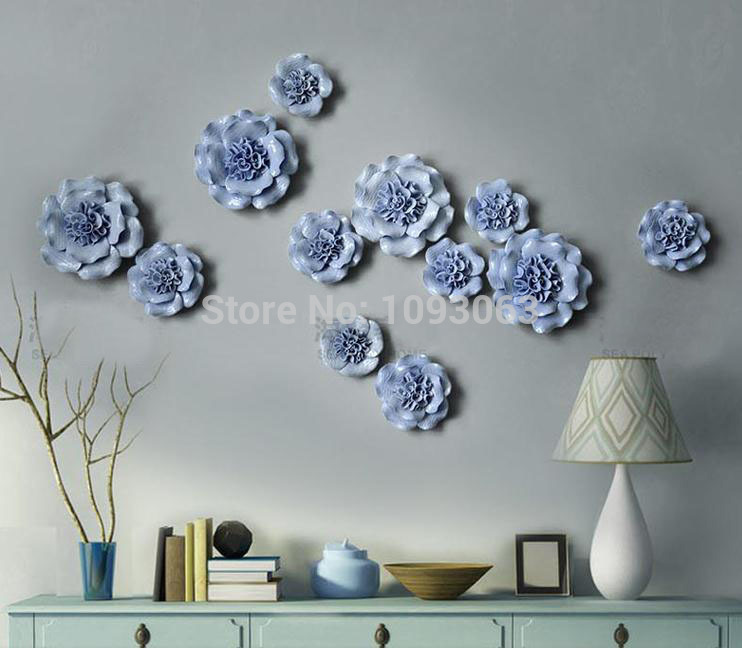 European Style Ceramic Flower Mural Creative Three Dimensional Wall Stickers Tv Backdrop Decorative Modern In From Home Garden On