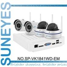 SunEyes SP-VK1841WD-EM 1080 P Full HD IP CCTV Câmera 4CH NVR Kit com 2 pcs Dome e 2 pcs Bala Ao Ar Livre Câmera IP Sem Fio 1080 P
