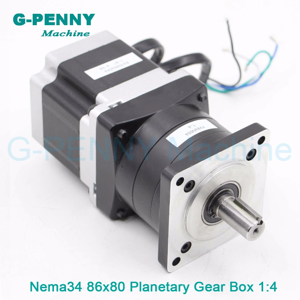 Nema34 stepper Motor Planetary Reduction Ratio 4:1 with nema34 motor 86x80 4A, planet gearbox 86 motor speed reducer,High Torque парктроник parkmaster 4 dj 34 34 4 a white