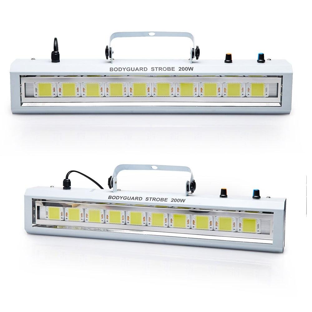 DMX/Sound Control 200W White lighting LED Strobe Grille Lamp Disco ...