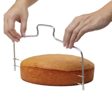 Hot Adjustable Stainless Wire Cake Slicer Leveler Pizza Dough Cutter Trimmer Ktchen Accessories