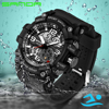 SANDA Military Watch Men Waterproof Sport Watch For Mens Watches Top Brand Luxury Clock Camping Dive