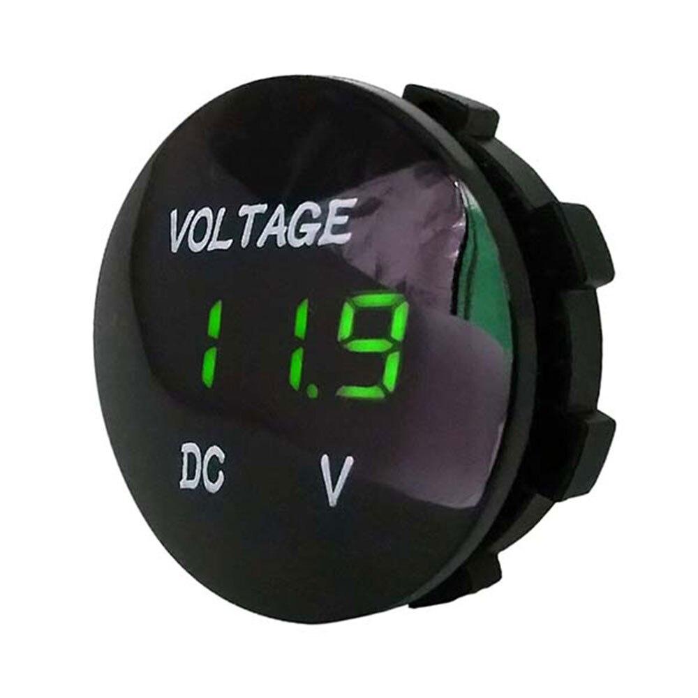 Черный 5 цветов дисплей напряжение дисплей Вольтметр для лодки Водонепроницаемый светодиодный прочный измеритель напряжения ATV автомобильные Универсальные мотоциклы - Цвет: Зеленый