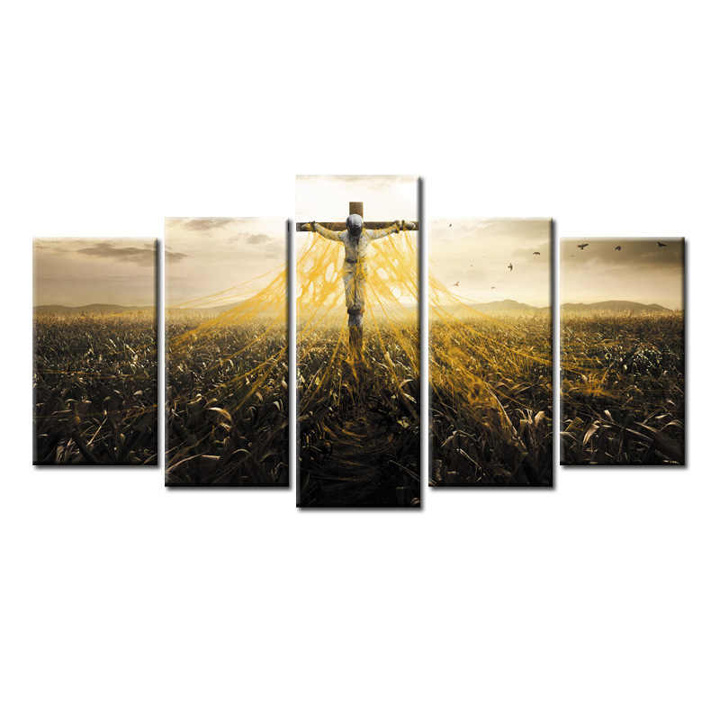 Top 5 Pieces/set Movie Poster Redemption Canvas Painting Sitting Room Decoration Print Canvas Pictures Framed/Abstrac- (161)