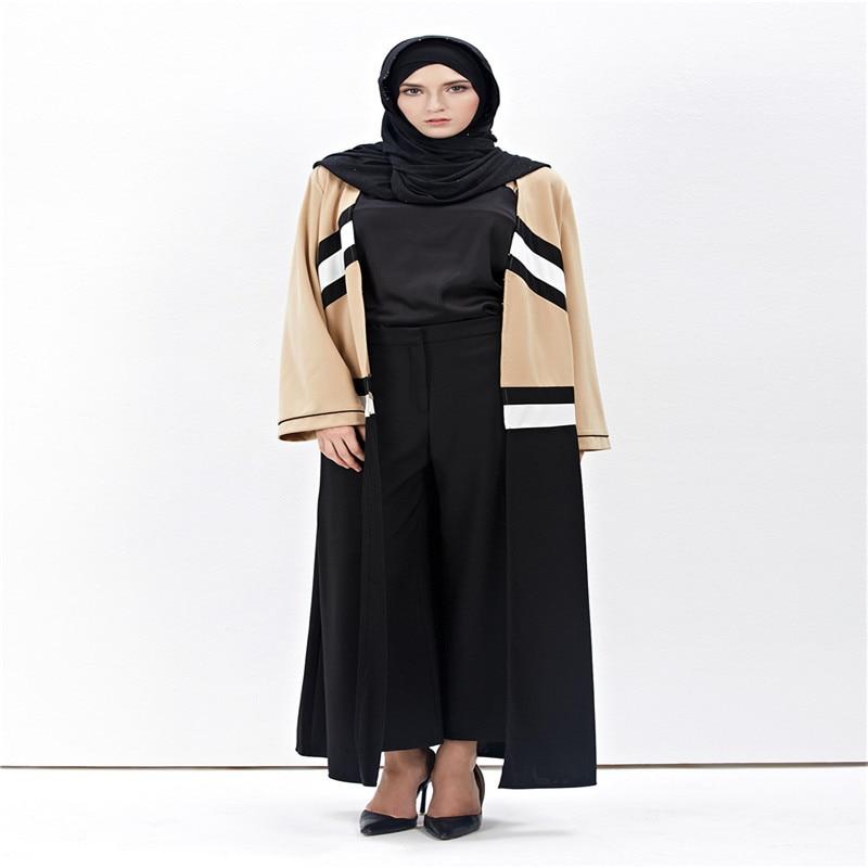2017 New Fashion Muslim Voksen Cardigan Robe Jilbab Abaya Islamic - Nasjonale klær - Bilde 2