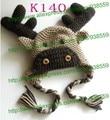 Envío libre Animal Del Ganchillo Bebé Niños Del Ganchillo de la Jirafa Del Sombrero tejido A Mano Sombreros de Invierno