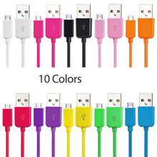 10 Colors Universal 1m Micro USB Cable Android Data Charging Cable For Samsung Galaxy HTC LG Xiaomi Huawei Xiaomi Mobile Phone