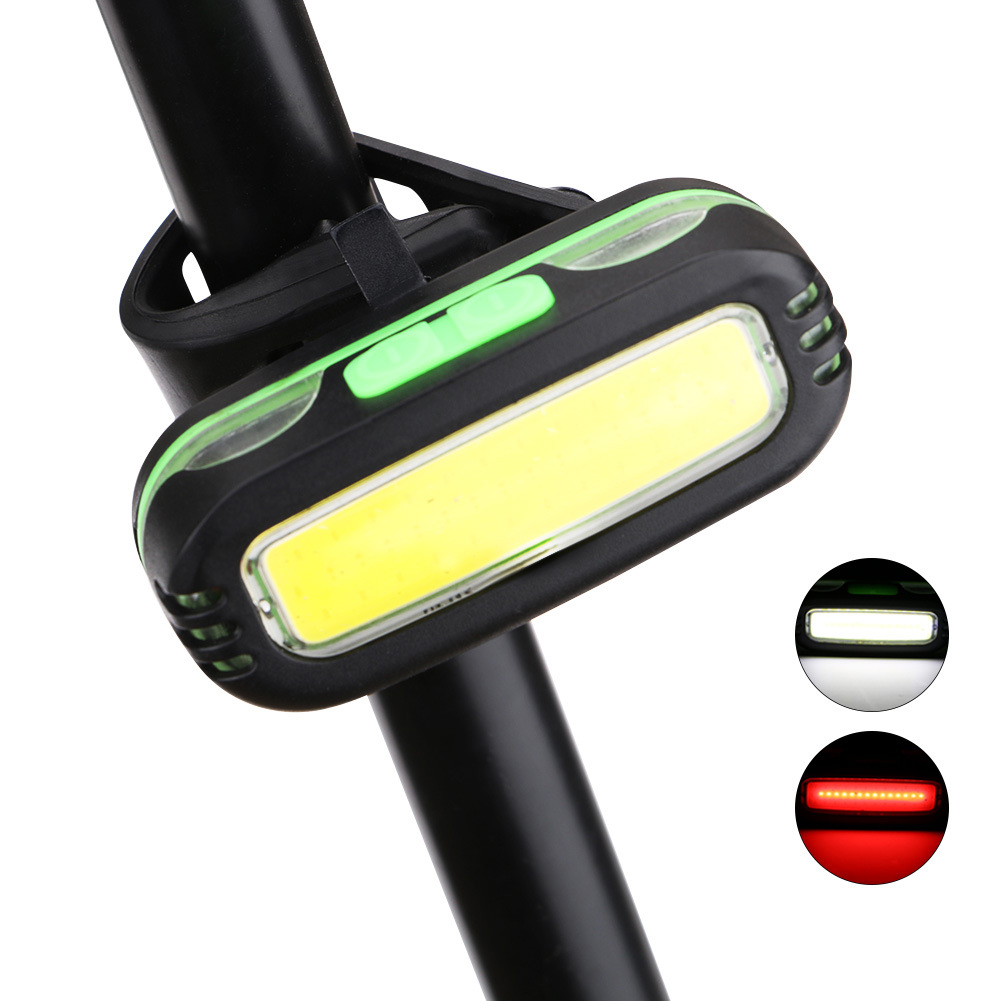 ABS COB Outdoor Road Taillight Waterproof Cycling Lamp Bicycle Lights Safety Battery Powered light Bike Accessories