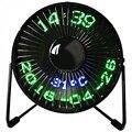 Новый хит продаж Usb Led часы мини вентилятор с дисплеем температуры в реальном времени настольный 360 Охлаждающие вентиляторы для домашнего оф...
