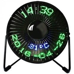 Nowe świetnie sprzedające się Usb zegar led Mini wentylator z wyświetlaczem temperatury w czasie rzeczywistym pulpit 360 wentylatory chłodzące do domowego biura w Wentylatory od AGD na