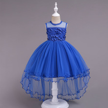 2019 Fashion Costume For Kids Girl Dress Evening Gown Birthday Party Princess Dresses Girls Children Wedding Clothing 3-14 Years