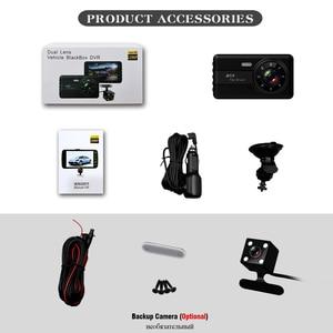 Image 5 - Cámara DVR 2 cámaras lente 4,0 pulgadas HD Dash lente Dual con cámara de visión trasera grabadora de vídeo Auto registrador DVRs dash Cam