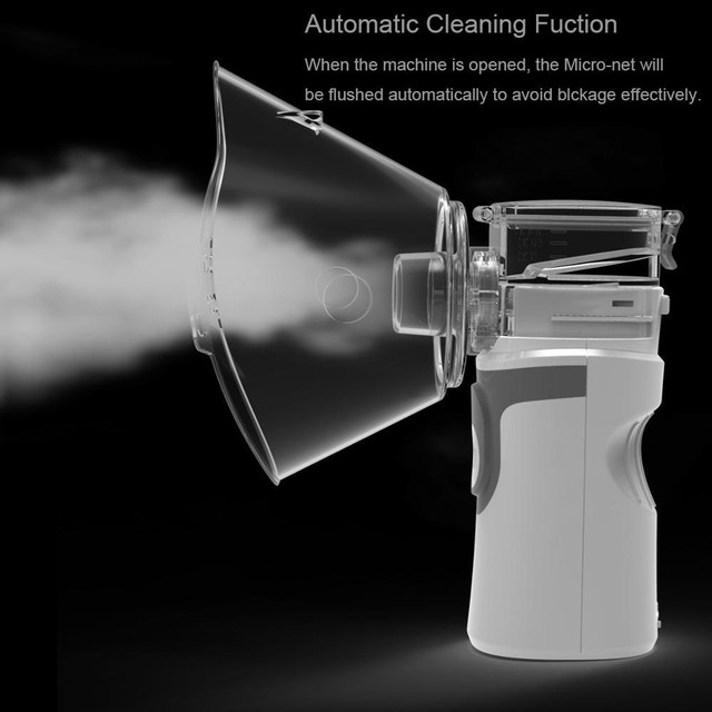 Mini Handheld portable Inhale Nebulizer Mesh atomizer silent inalador usb autoclean nebulizador Adult Automizer inhaler for kids 2