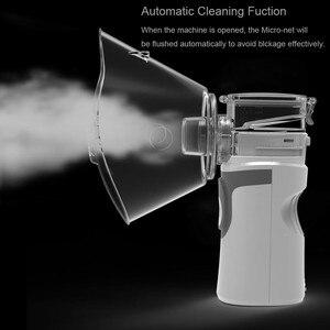 Image 3 - Mini nébuliseur portable à mailles, inhalateur, silencieux, USB, auto nettoyage, pour adultes et enfants