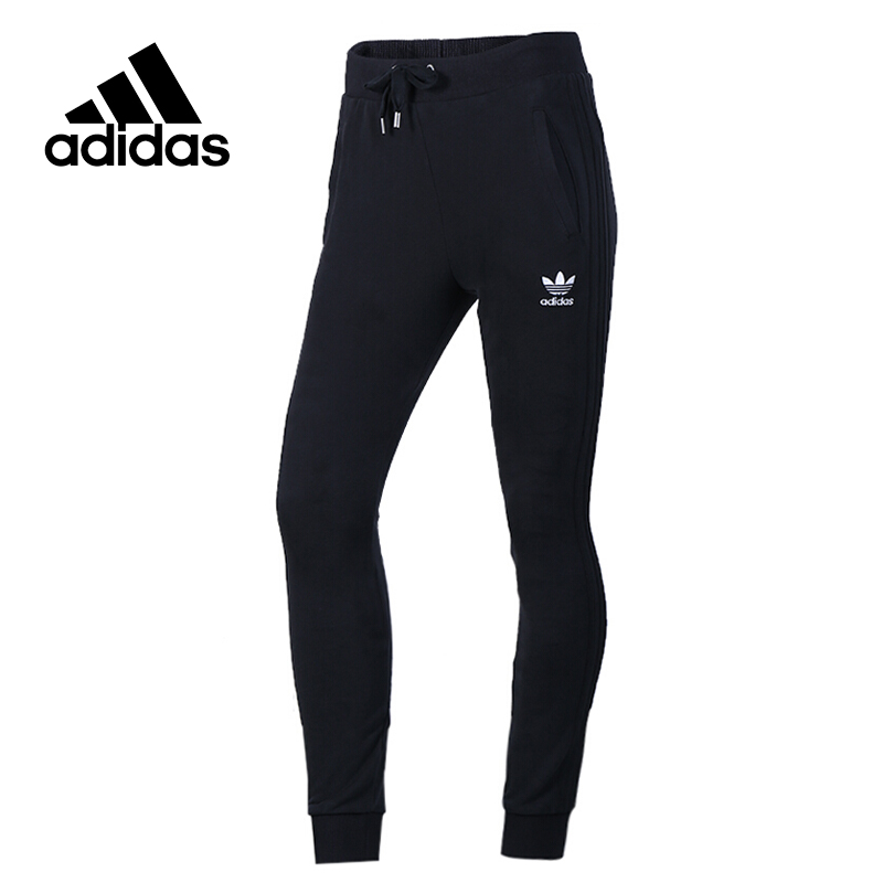 Original New Arrival Official Adidas Women's knitted Full Length Pants Breathable Leisure Sportswear adidas original new arrival official women s tight elastic waist full length pants sportswear aj8153