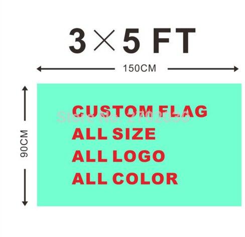 Ouly Per 100 pz Bandiera Personalizzata 90*150 cm Tutto Logo Tutto il Colore Reale Bandiere Striscioni Con Manica Gromets