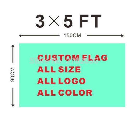 Personnalisé Drapeau 90*150 cm Tous Les Logo Toutes Les Couleurs Royal Drapeaux Bannières Avec Manches Gromets