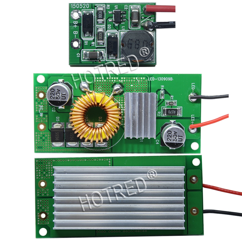 High Quality DC 12V - 24V to DC Constant Current LED Driver 10W 20W 30W 50W DC input ower Supply for 10W 20w 30w 50w led lamp 30w 155mm dc12v led pcb input dc 12v needn t driver smd5730 super brightness aluminum lamp plate
