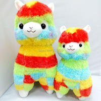 35cm And 45cm Japanese Rainbow Alpaca Vicugna Pacos Alpacasso Baby Soft Stuffed Plush Toy Dolls Gifts
