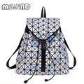 Mulheres BaoBao Mochila Cordão Diamante Treliça Geometria Bao Bao Saco Acolchoado Senhoras Mochila Sac Para adolescente Escola Bags