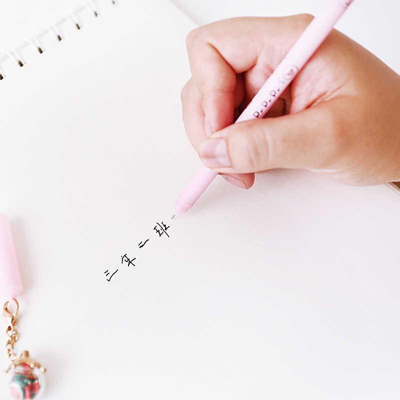 Jianwu 5 Pcs 0.5 MM Lucu Kartun Botol Liontin atau Netral Mengenai Saham Pena dengan Luminous Gel Pena Siswa Alat Tulis