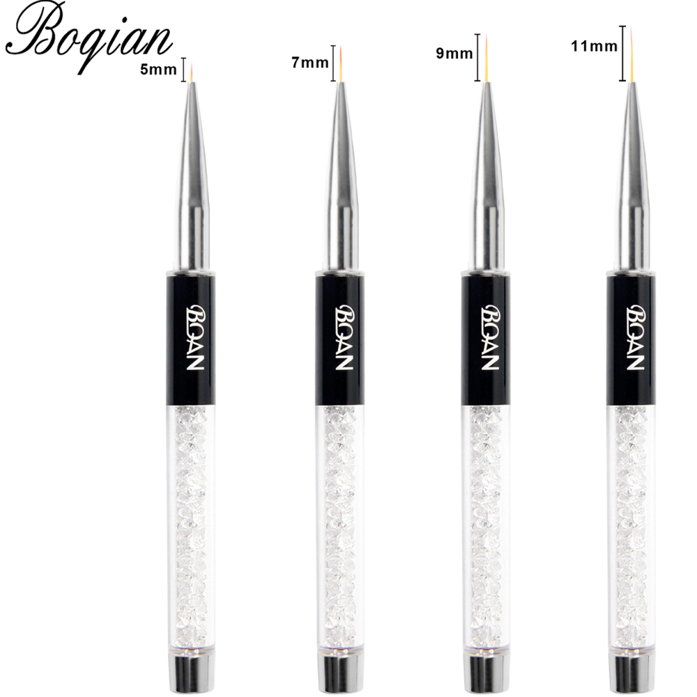 BQAN Professional 5mm/7mm/9mm Nail Brush Hand Draw Tips Drawing Line Painting Pen Tools Manicure Nail Art Brush Decoration