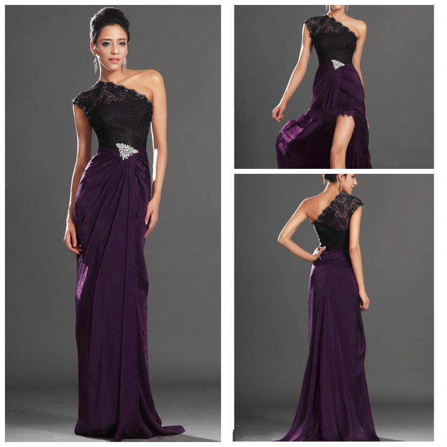 Dark Purple Lace Bridesmaid Dresses - Wedding Dress Ideas