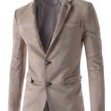 Мужской Блейзер, модный весенний и зимний трендовый Блейзер, мужские однорядные застежки с двумя пряжками, костюм, замшевая повседневная куртка