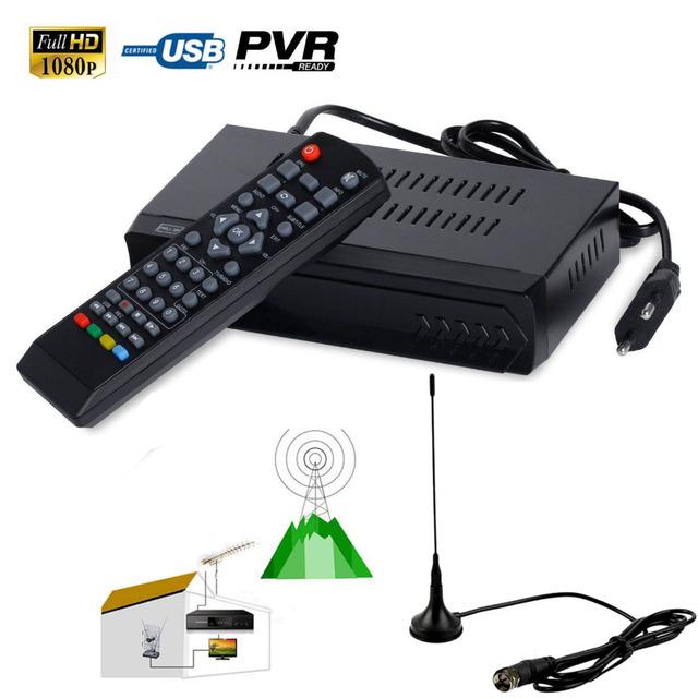 Definición FTA HD 1080 P H.264 ISDB-T TV Digital Terrestre Receptor SET DECODIFICADOR Pvr USB de la ayuda HDMI + UHF VHF Antena de Interior