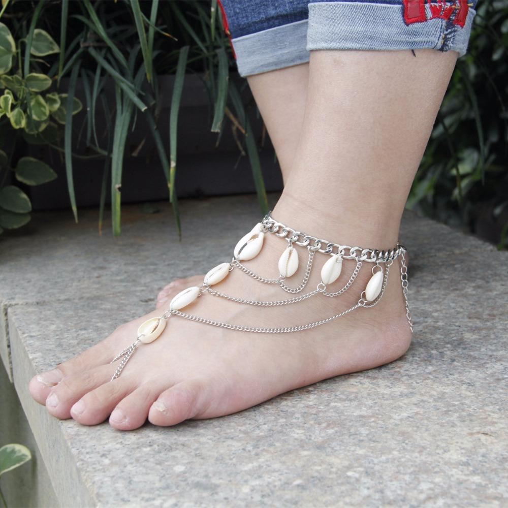 HTB1dQnESpXXXXXhXFXXq6xXFXXXN Summer Boho Seashell Ankle Bracelet Accessory